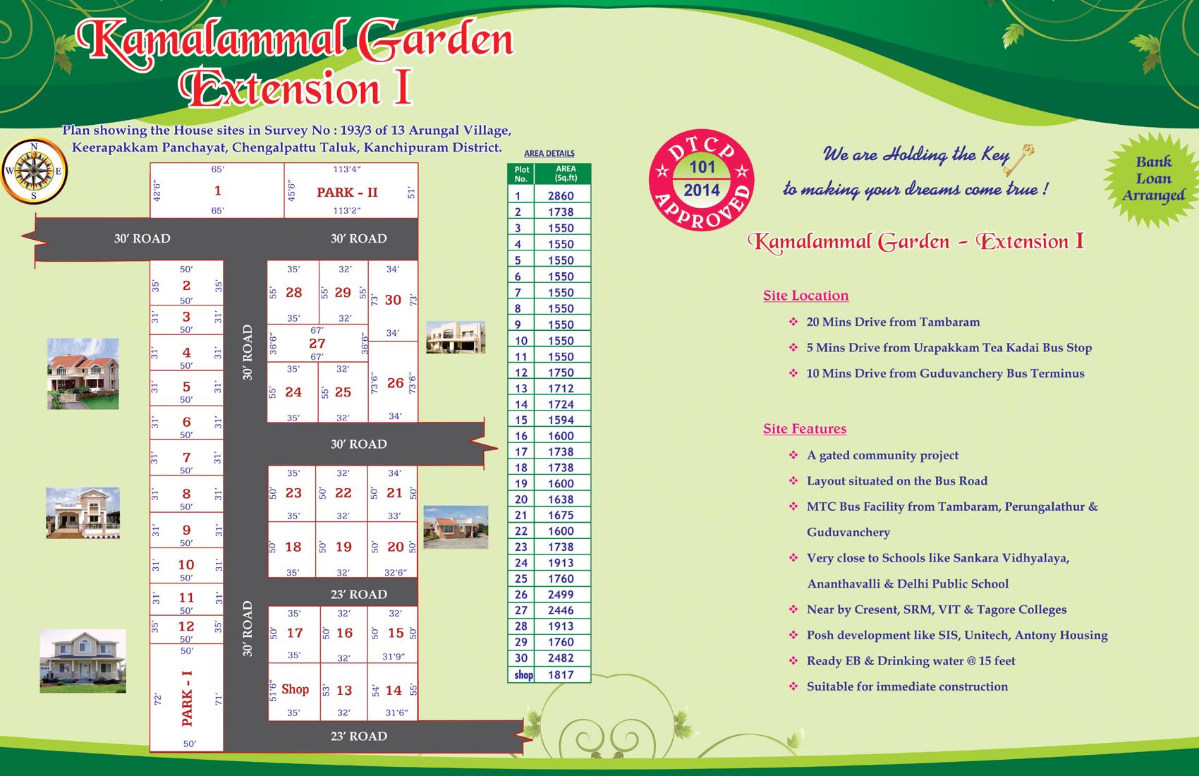 Kamalammal Garden Layout Plan