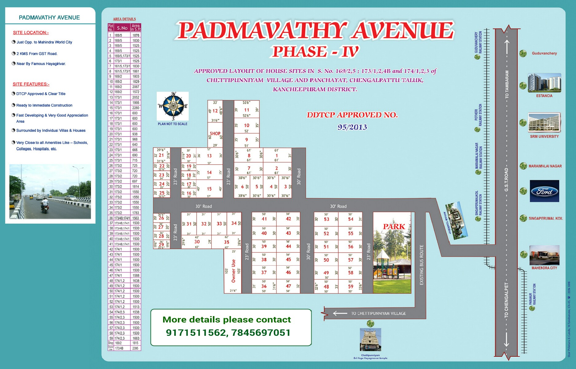 Padmavathy Avenue  Layout Plan